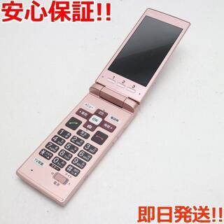 キョウセラ(京セラ)の超美品 au KYF36 かんたんケータイ ピンク(携帯電話本体)