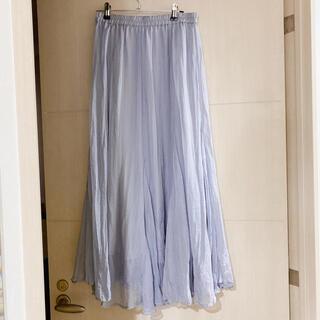 ココディール(COCO DEAL)のココディールシアーシフォンワッシャーロングスカート(ロングスカート)