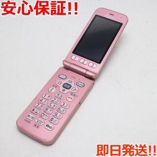 フジツウ(富士通)の新品同様 F-02J らくらくホン ピンク (携帯電話本体)