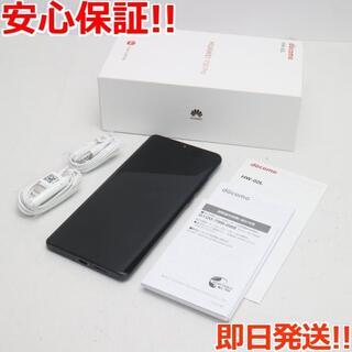 アンドロイド(ANDROID)の美品 SIMロック解除済 HW-02L ブラック (スマートフォン本体)