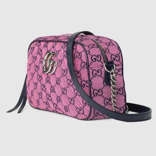 Gucci - 期間限定●GUCCIグッチGGマルチカラーGGマーモントピンクショルダーバッグ