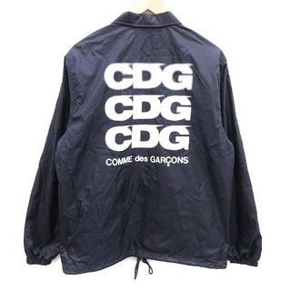 コムデギャルソン(COMME des GARCONS)のコムデギャルソン CDG AD2018 コーチジャケット ロゴ S 紺 白(ブルゾン)