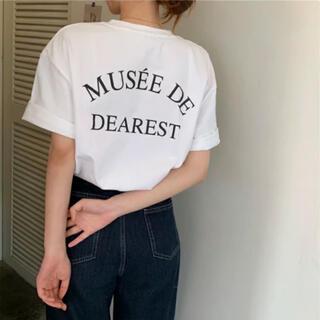 ロゴプリントTシャツ ロゴTシャツ プリントTシャツ 白Tシャツ 新品 未使用