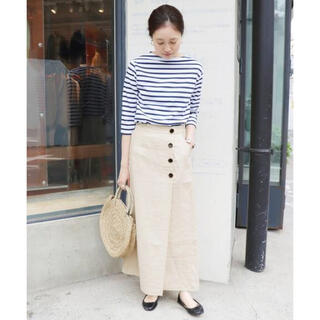 IENA SLOBE - 麻ボタンタイトスカート