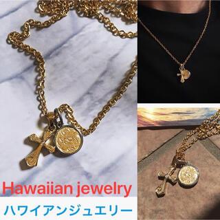 ハワイアンジュエリー ネックレス クロス メダル コイン メンズ レディース