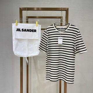 ジルサンダー(Jil Sander)の【JIL SANDER】ストライプ Tシャツ(Tシャツ(半袖/袖なし))