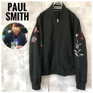 Paul Smith - 櫻井翔さん着用⭐️極美品⭐️Paul Smith 花柄 刺繍 ブルゾン 黒 L