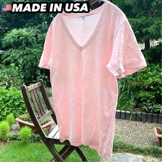 アメリカンアパレル(American Apparel)のAmerican Apparel🇺🇸【ユニセックス】VネックTシャツ(Tシャツ/カットソー(半袖/袖なし))