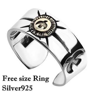 指輪 メンズ リング フリーサイズ シルバー925 ネイティブ シンプル