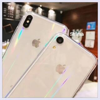 iPhone - オーロラ クリア iPhone ケース カバー 7 8 対応 11 pro X