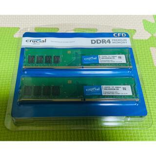 専用 CFD PC用メモリ PC4-21300 8GB×2枚 288pin(PCパーツ)