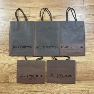 ルイヴィトン(LOUIS VUITTON)のLOUIS VUITTON  ルイヴィトン ショップ袋5枚セット ショップバック(ショップ袋)