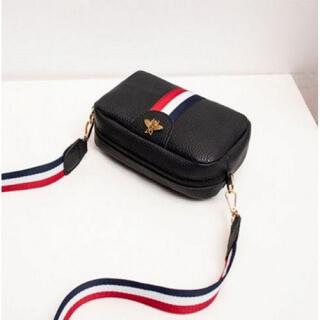 ミニショルダーバッグ ブラック レディース 蜂デザイン かわいい おしゃれ 黒