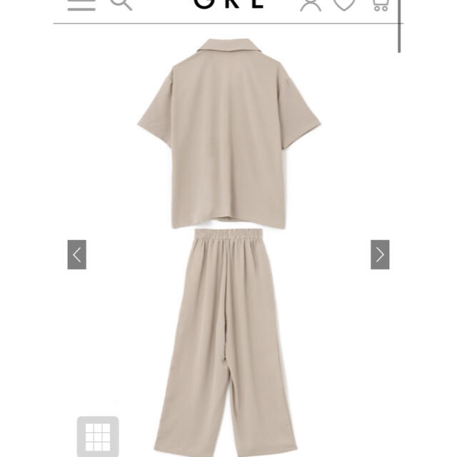 GRL(グレイル)のグレイル オープンカラーシャツXパンツセットアップ レディースのレディース その他(セット/コーデ)の商品写真