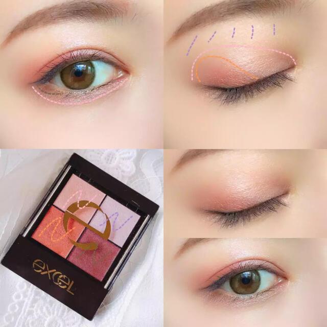 サナ エクセル アイシャドウ コスメ/美容のベースメイク/化粧品(アイシャドウ)の商品写真