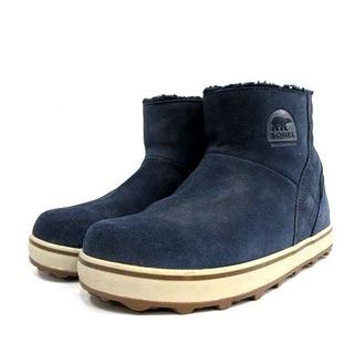 ソレル(SOREL)のソレル SOREL ムートンブーツ ショート スエード 24.0cm 紺(ブーツ)