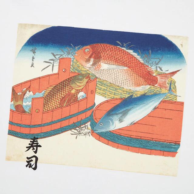 UNIQLO(ユニクロ)の専用   歌川広重寿司メンズM&ブルーTシャツ L メンズのトップス(Tシャツ/カットソー(半袖/袖なし))の商品写真