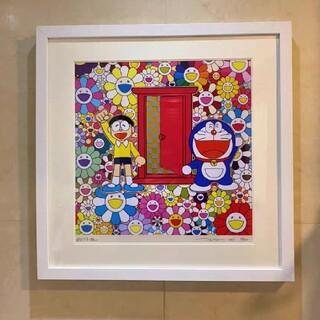メディコムトイ(MEDICOM TOY)の村上隆 ドラえもん ポスター作品「どこでもドア」でお花畑にやって来た!(その他)