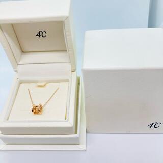 ヨンドシー(4℃)の美品 4℃ K10 イニシャルA/ハートモチーフ ネックレス(ネックレス)