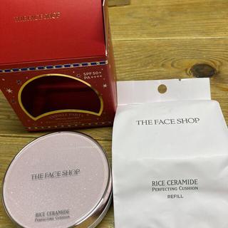 ザフェイスショップ(THE FACE SHOP)のR&C パーフェクトクッション リフィル付き 限定セット203ナチュラルベージュ(ファンデーション)
