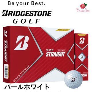 ブリヂストン(BRIDGESTONE)の新品 ブリヂストン スーパーストレート ゴルフボール 1ダース Pホワイト(その他)