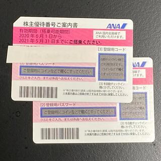 エーエヌエー(ゼンニッポンクウユ)(ANA(全日本空輸))のANA 株主優待券 20211130まで(航空券)
