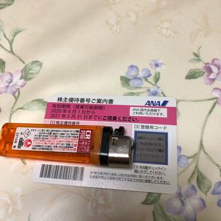 エーエヌエー(ゼンニッポンクウユ)(ANA(全日本空輸))のANA 株主優待券 ピンク 1枚(航空券)