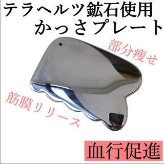 テラヘルツ カッサ プレート 美容 ダイエット 鉱石 小顔 健康 羽根型 (フェイスケア/美顔器)