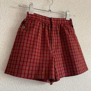 familiar - 美品 familiar♡キュロットスカート ファミリアチェック 赤♡110