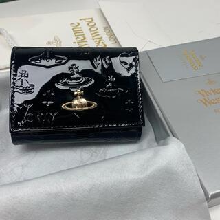 Vivienne Westwood - 未使用☆ ヴィヴィアンウエストウッドVivienneレザーブラック3つ折り財布