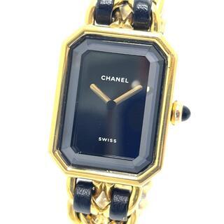 シャネル(CHANEL)のシャネル H0001 プルミエール レディース腕時計  ブラック×ゴールド(腕時計)