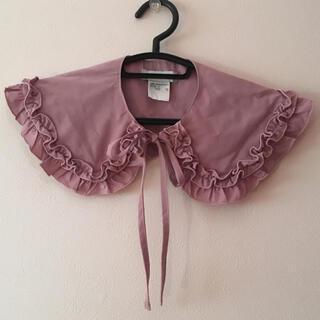 ウィゴー(WEGO)のつけ襟 襟 レディース  レース リボン ウィゴー フリル かわいい ピンク(つけ襟)