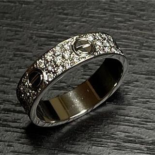 カルティエ(Cartier)のカルティエ Cartier ラブリング ダイヤ 64 24号 保証書鑑別書付WG(リング(指輪))
