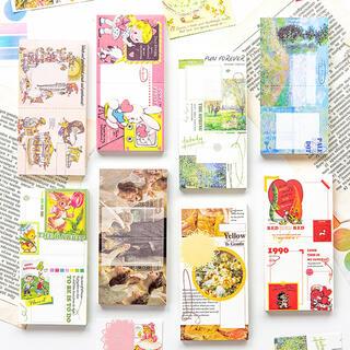 【5種類セット300枚 】海外レトロアニマル ストリーズ コレクション メモ