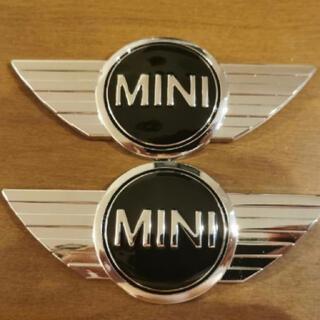 Mini cooper エンブレム2枚セット 両面テープ付き  新品未使用(自動車用チャイルドシート本体)