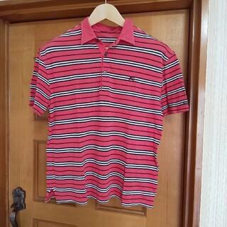 BURBERRY BLACK LABEL - BURBERRY BLACK LABEL ポロシャツ ピンク 3 L