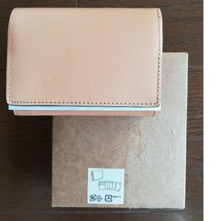 MUJI (無印良品) - MUJI無印良品  イタリア産ヌメ革三つ折り財布【生成】
