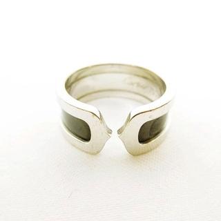 カルティエ(Cartier)のC2リング クリスマス限定 750 55 指輪 WG ×ブラック 15号 ■WY(リング(指輪))
