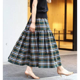 IENA - ☆新品・タグ付☆ チェックギャザーティアードスカート