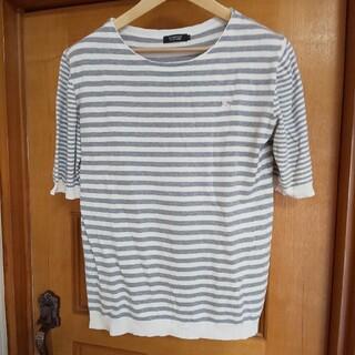 BURBERRY BLACK LABEL - BURBERRY BLACK LABEL Tシャツ 麻 ボーダー 3 L