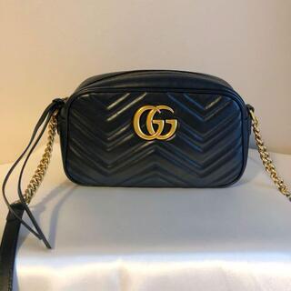 Gucci - GUCCI GGマーモント キルティングスモールショルダーバッグ
