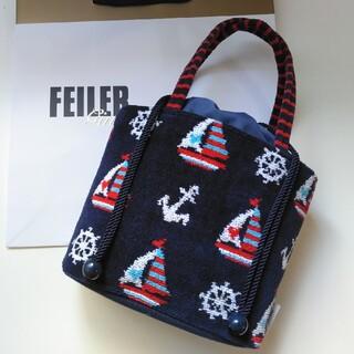 FEILER - 【完売品】フェイラー ゴーセーリング ヨット柄 巾着トートバッグ