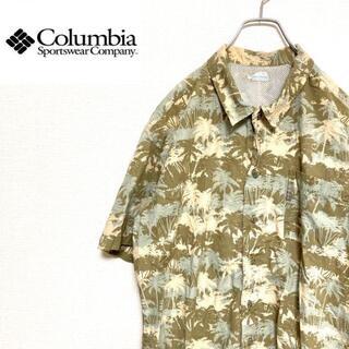コロンビア(Columbia)の●Columbia● アメリカ古着 PFG 柄シャツ アロハシャツ ベージュ(シャツ)