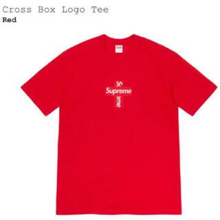 Supreme - 【S】シュプリーム  クロスboxlogo  Tシャツ レッド supreme