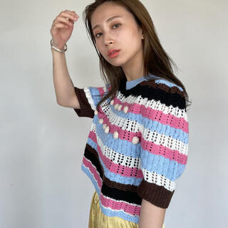 TODAYFUL - sanself サンセルフ ponpon mulch border knit