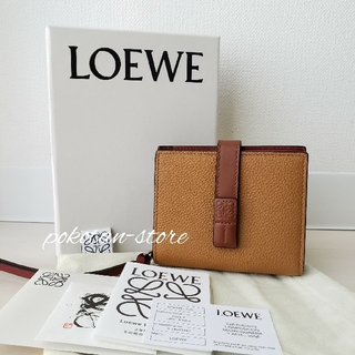 LOEWE - 新品同様【ロエベ】コンパクト ジップ ウォレット ソフトグレインカーフ 折り財布