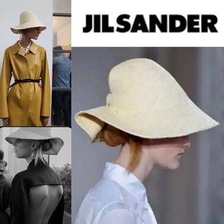 ジルサンダー(Jil Sander)のJIL SANDERジルサンダー  麦わら帽子 ハット(ハット)