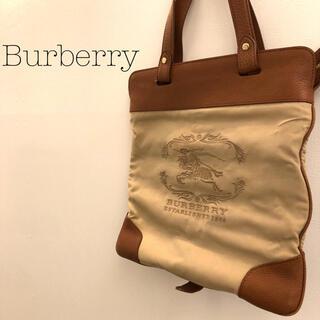 BURBERRY - BURBERRY ESTABLISHED/バーバリー/ホースロゴ/トート折り畳み