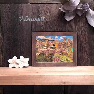【送料無料】ハワイの風景☆No.807   卓上(2L)サイズ   フレーム付(アート/写真)