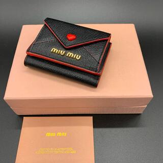 miumiu - miumiu ミュウミュウ マドラスラブ マイクロウォレット 3つ折り財布 美品